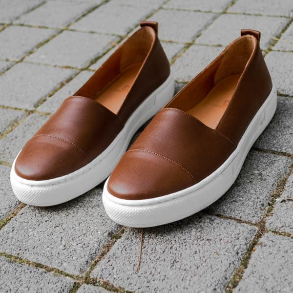 wholesale better differently Δερμάτινο αθλητικό loafer