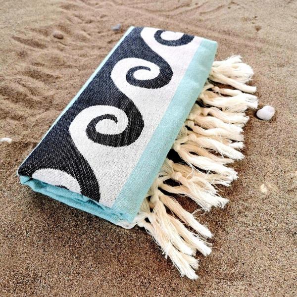 Πετσέτα Θαλλάσης Βαμβακερή 100% 'Waves'