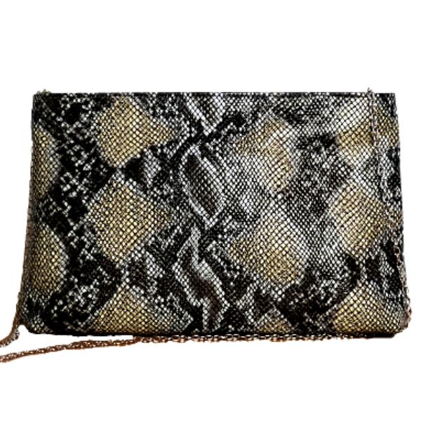 Leather Shoulder Bag - Envelope FW / 21 Print Snake