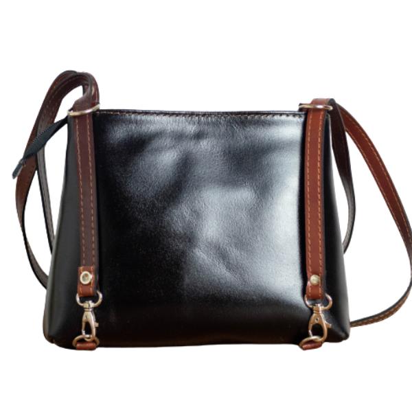 Δερμάτινη τσάντα Ωμου - FW/21 Μαύρο