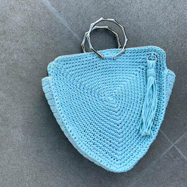 Πλεκτή τσάντα 100% Βαμβάκι